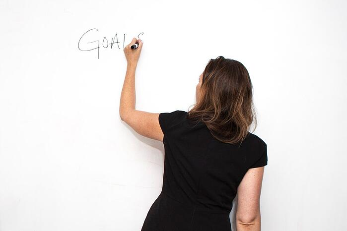 Choir Manager Writing on Whiteboard