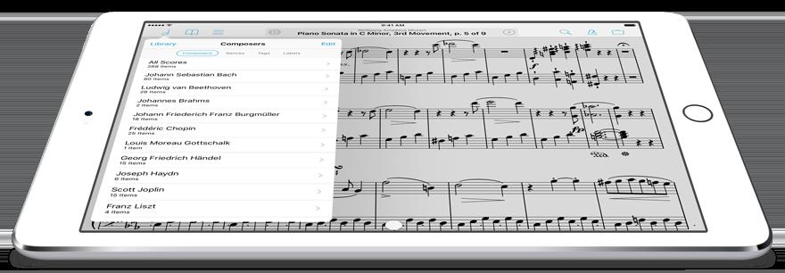 forScore on iPad