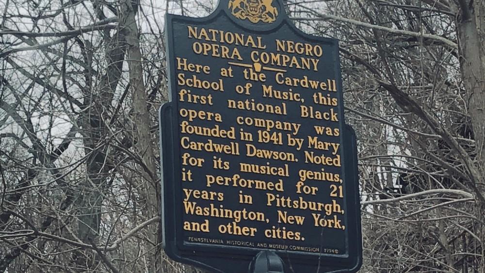 National Negro Opera Company Sign