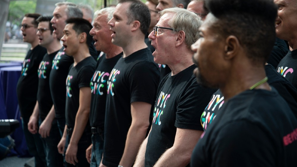 New York City Gay Mens Chorus singing