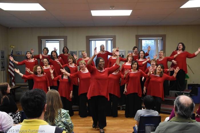 Rhythm of New Hampshire Show Chorus singing