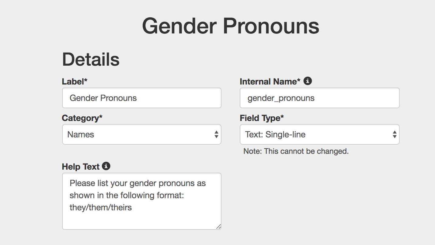 gender pronouns