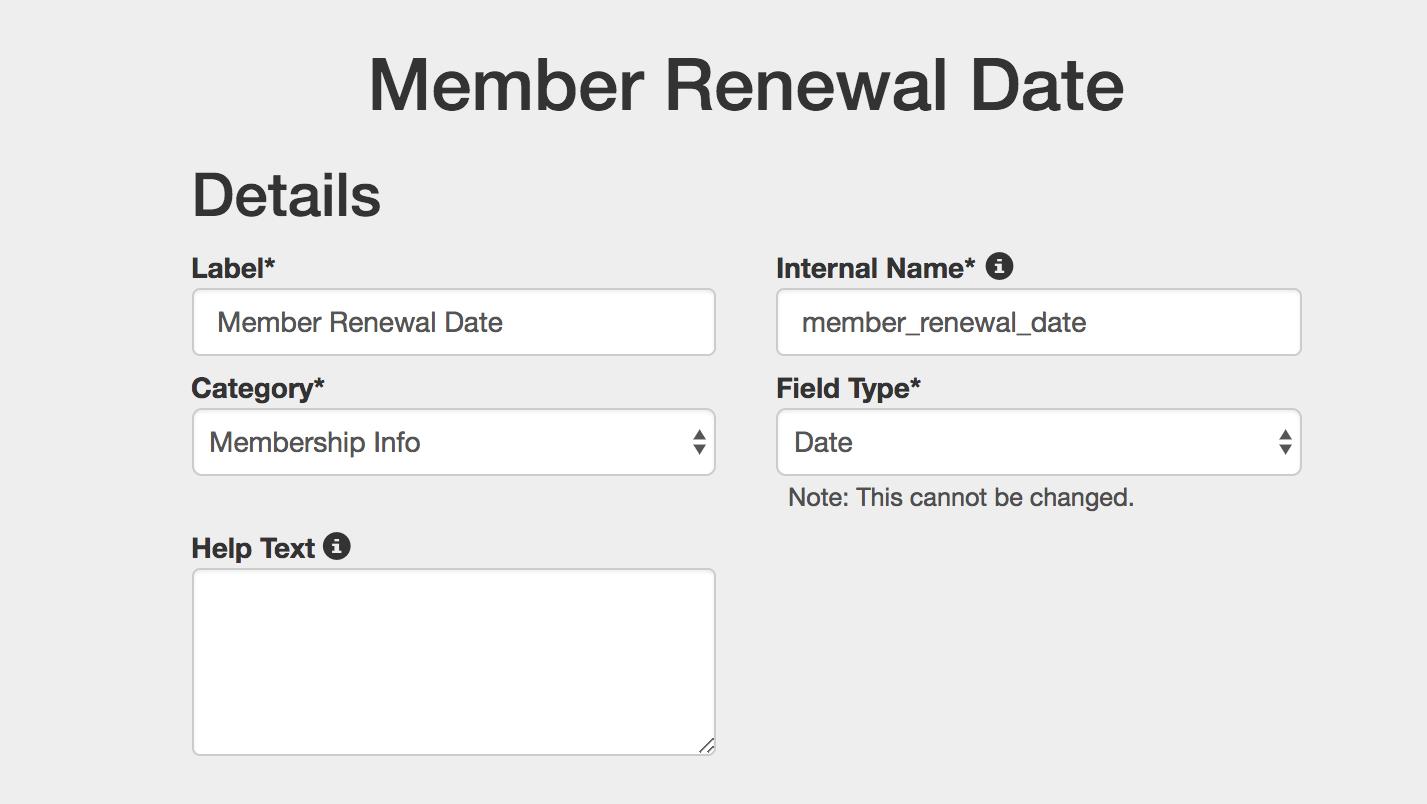 member renewal date