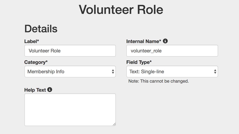 volunteer role