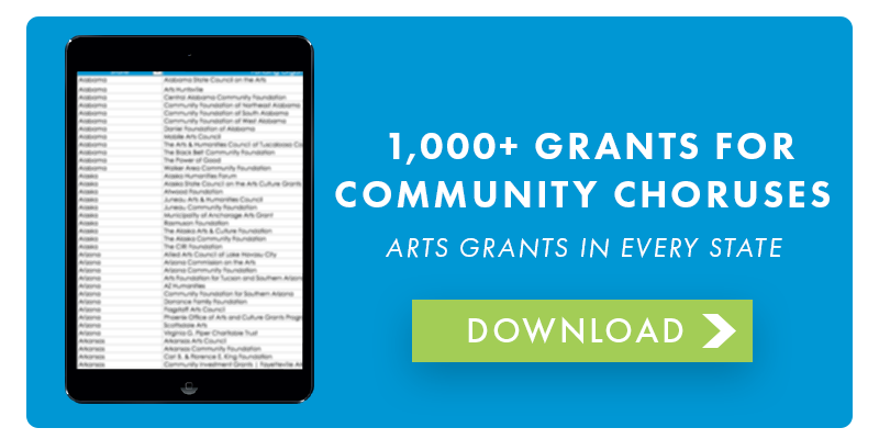 Download Grants for Community Choruses