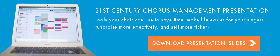 21st century choir management presentation call to action