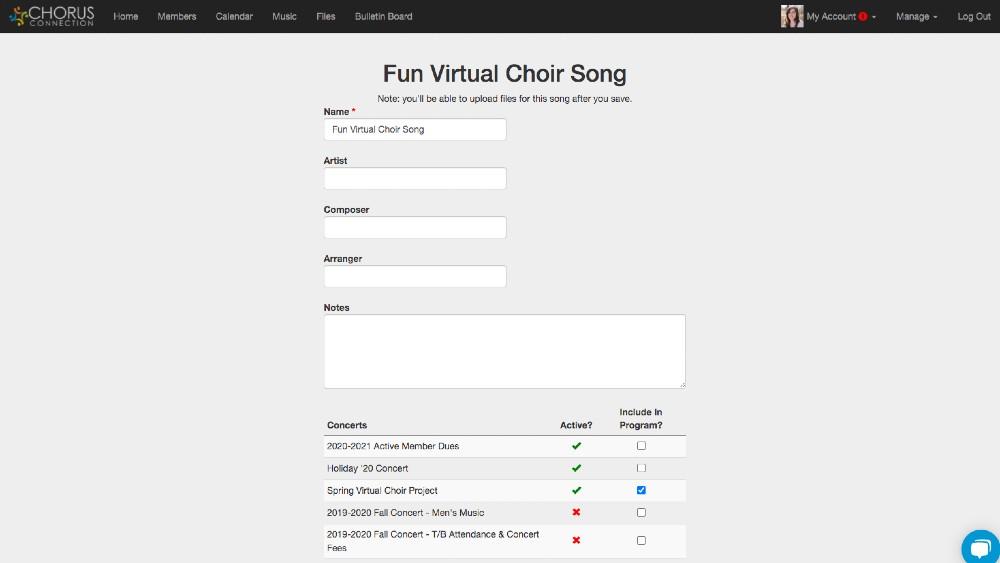 Virtual Choir Music Files in Chorus Connection