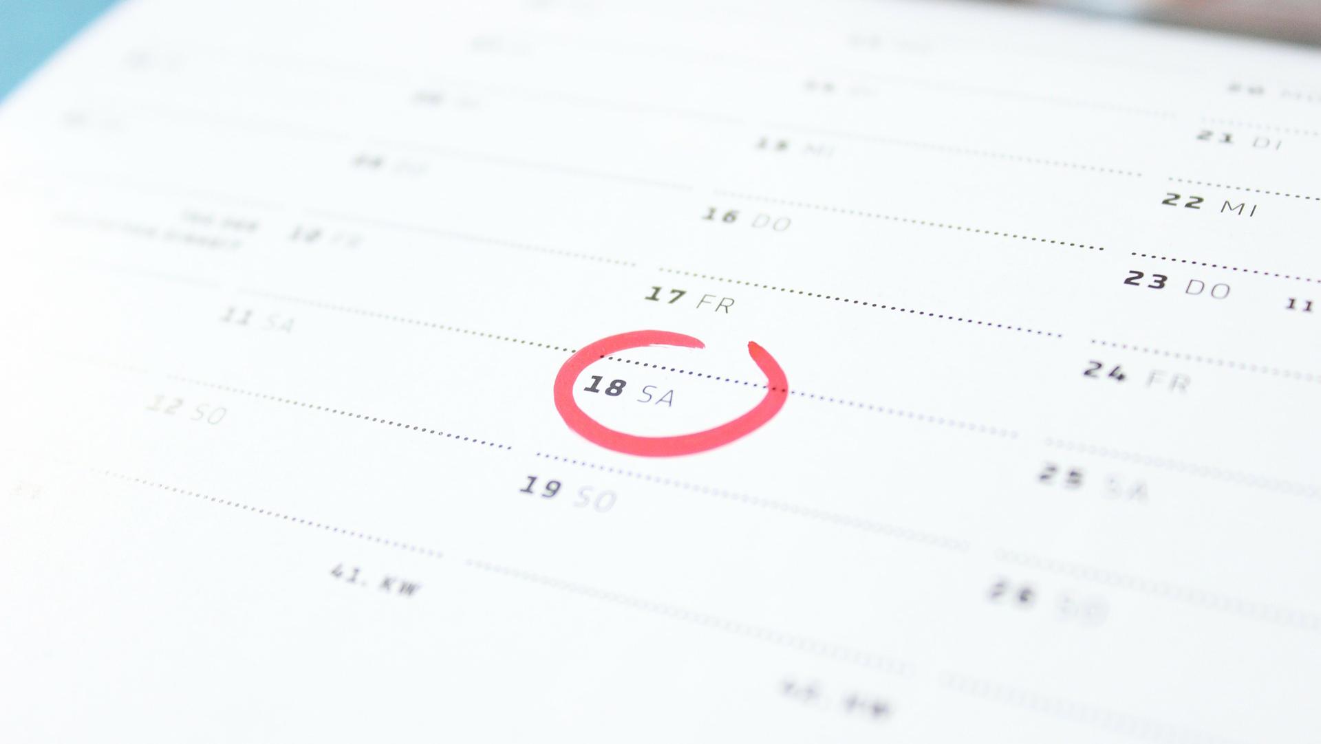 chorus calendar