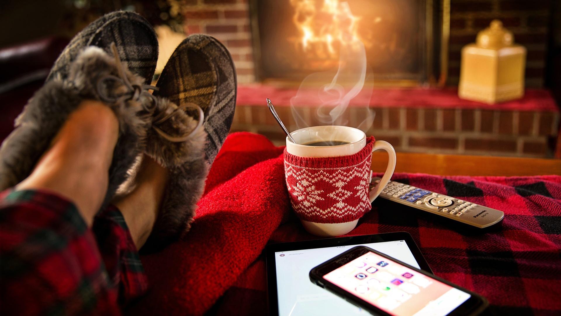 hot chocolate and work