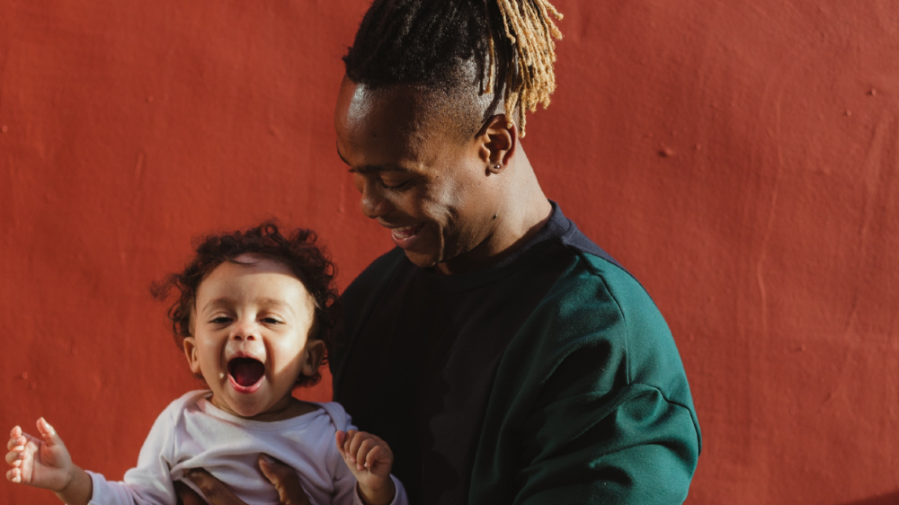 parent and child happy